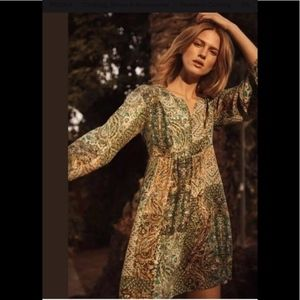 Anthropologie Amelie Silk Kimono Dress Size 4